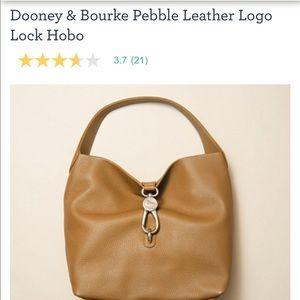 Dooney & Bourke Pebble Leather Logo Lock Hobo